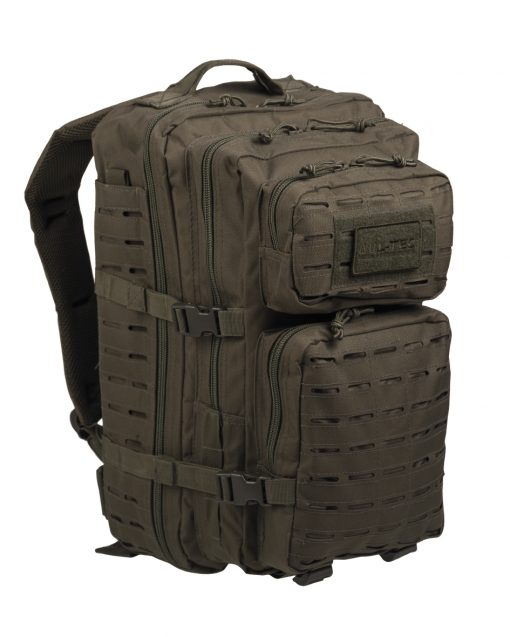 US OLIVELASER CUT ASSAULT BACKPACK