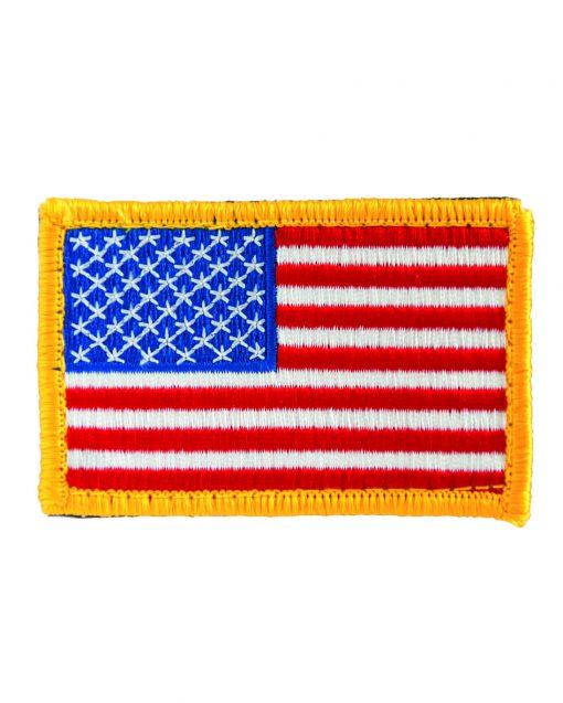 Parches bandera USA cinta cierre clásica e invertida