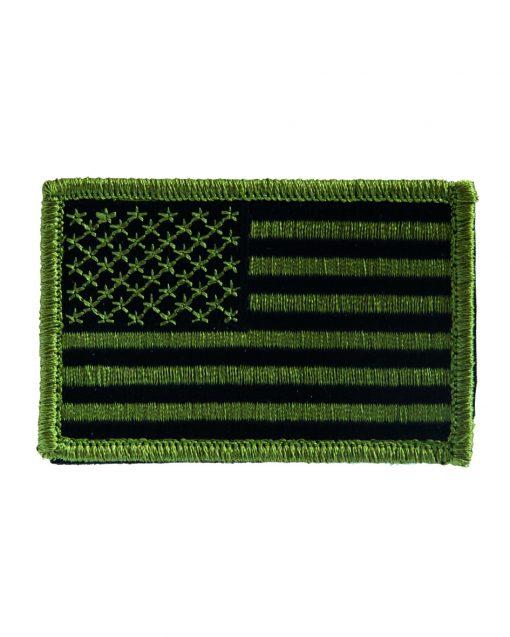 Parches bandera USA OLIVE cinta cierre clásica e invertida