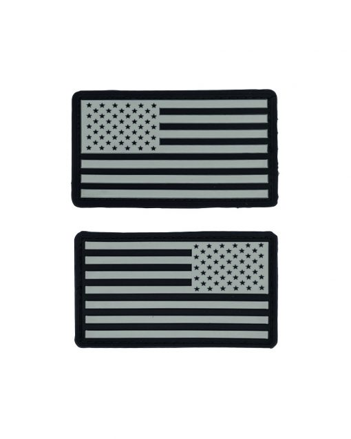 PARCHE 3D PVC Parches PVC bandera USA ACU Clásica e invertida